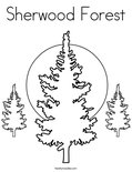 Sherwood ForestColoring Page