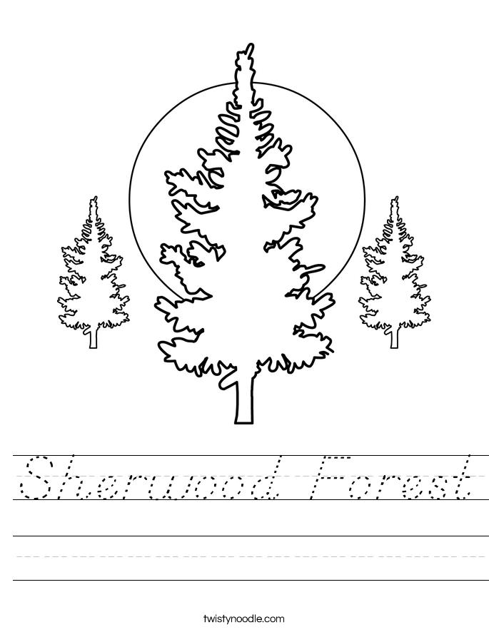 Sherwood Forest Worksheet