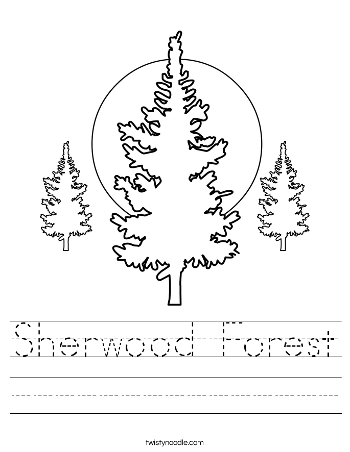 Sherwood Forest Worksheet