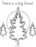 There is a big forest.Coloring Page