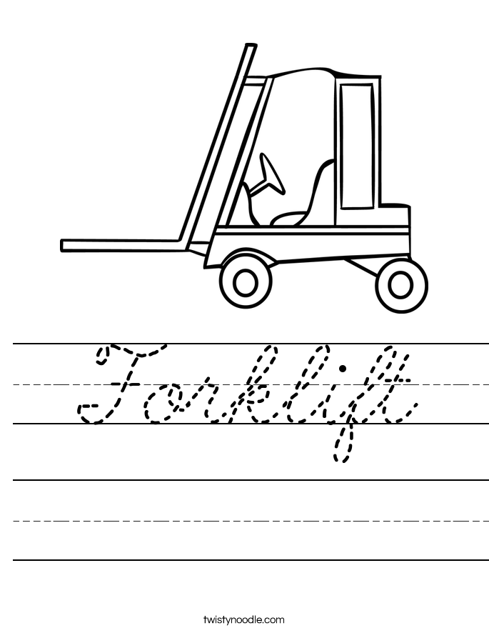 Forklift Worksheet