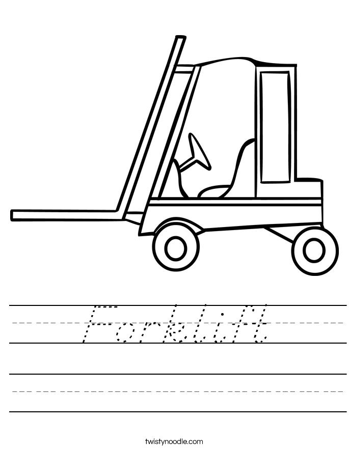 Forklift Worksheet