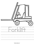 Forklift Handwriting Sheet