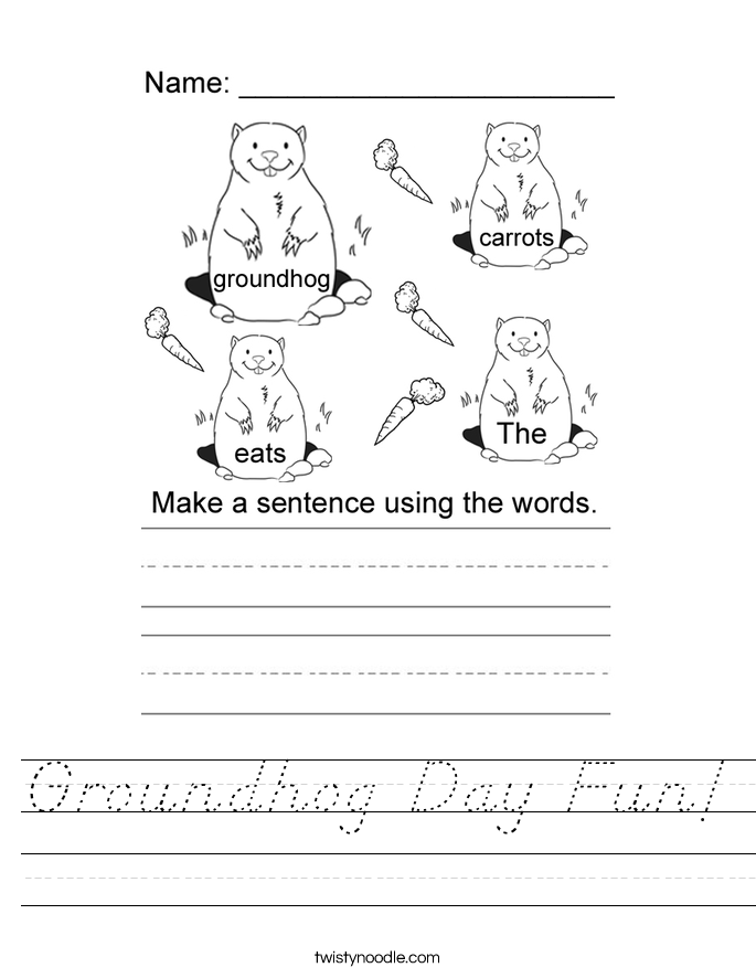 Groundhog Day Fun! Worksheet