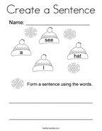 Create a Sentence Coloring Page