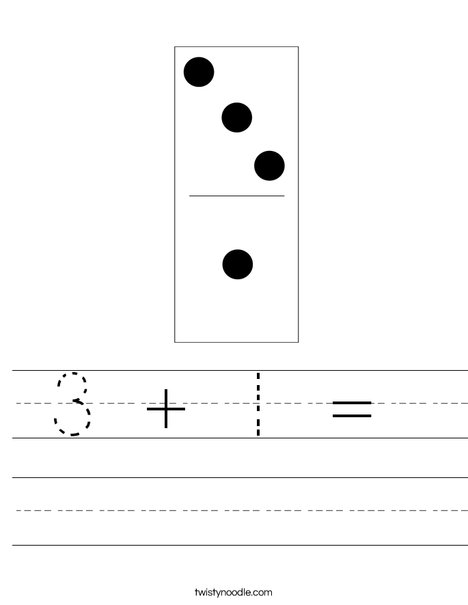 Domino Four Worksheet