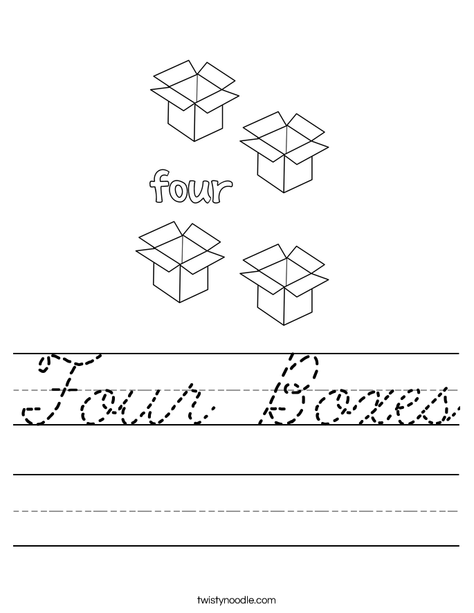 Four Boxes Worksheet