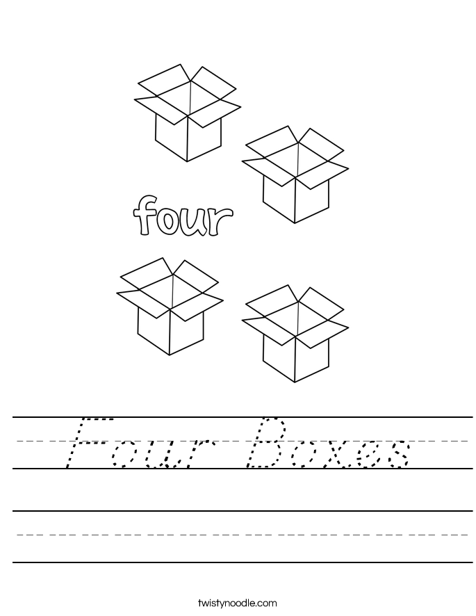 Four Boxes Worksheet
