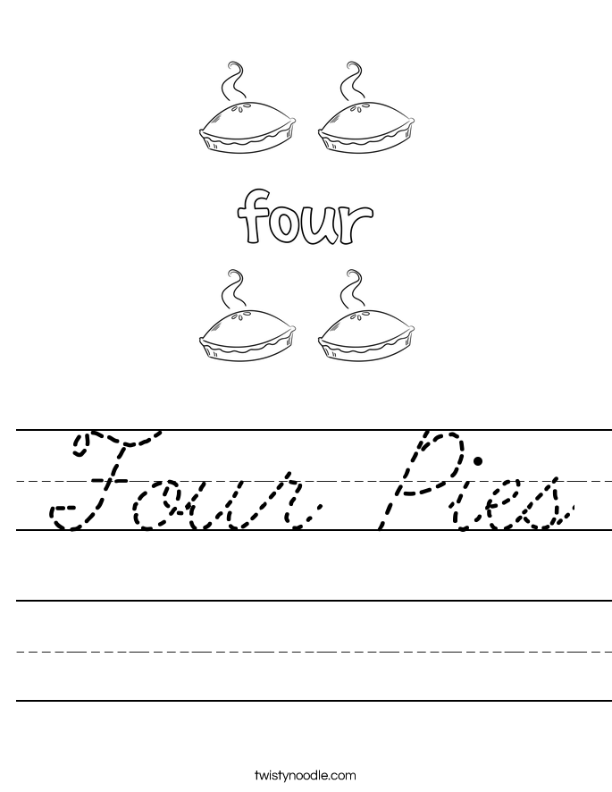 Four Pies Worksheet