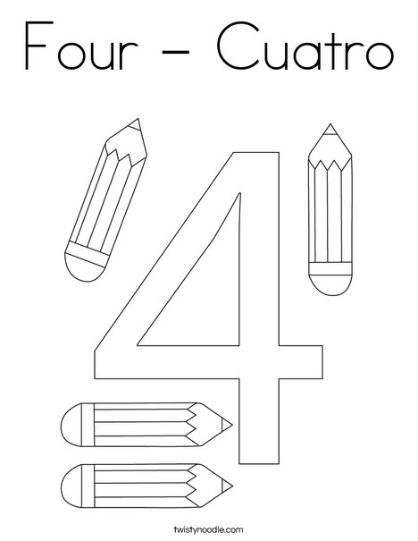 Elephant Four Coloring Page