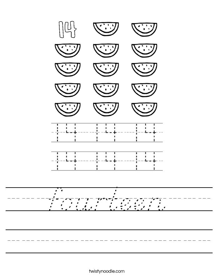 fourteen Worksheet