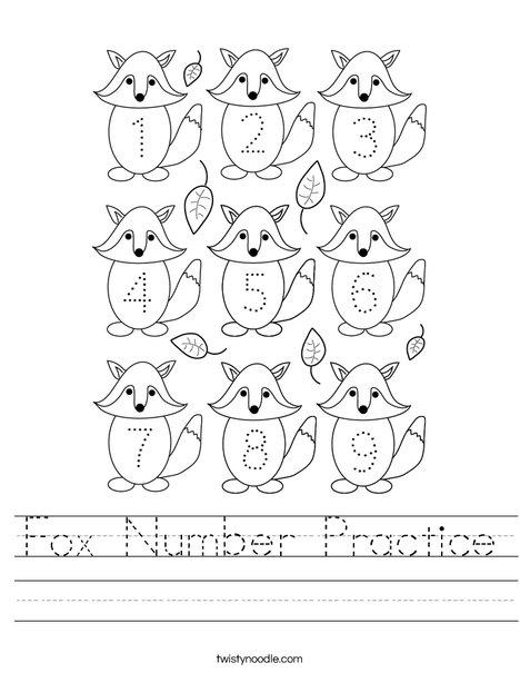 Fox Number Practice Worksheet