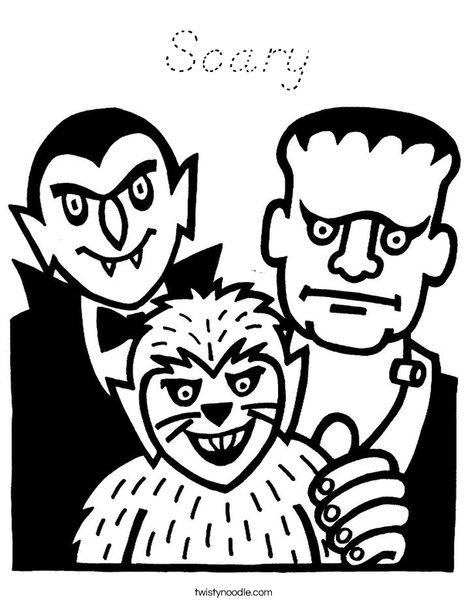 Frankensteins Coloring Page