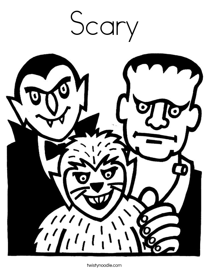 scary halloween house coloring pages - photo#33