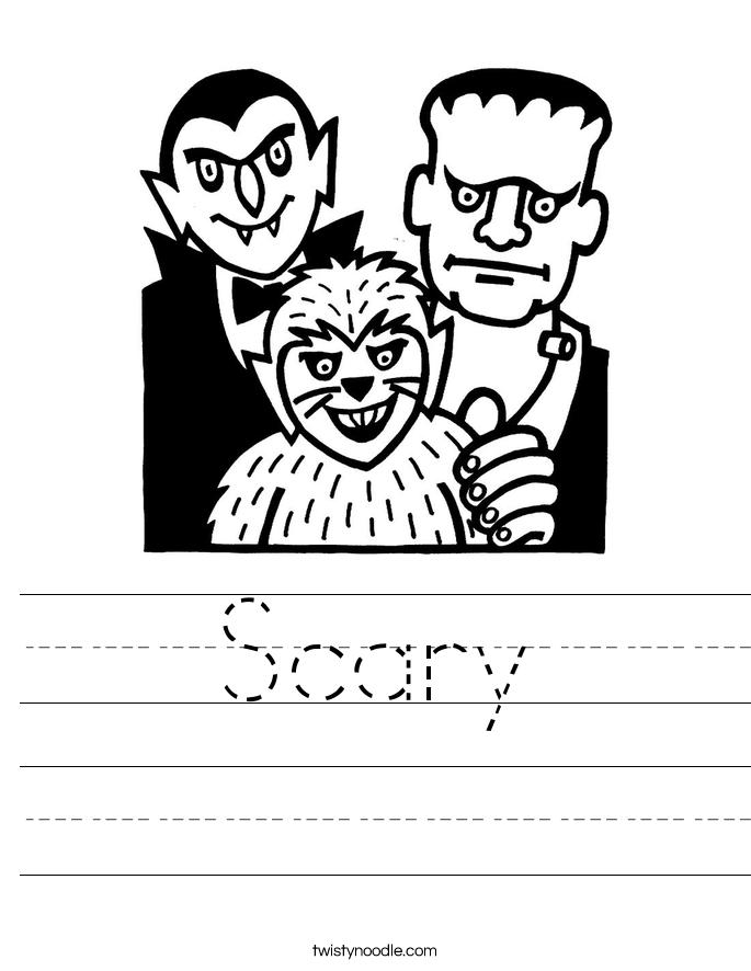 Scary Worksheet
