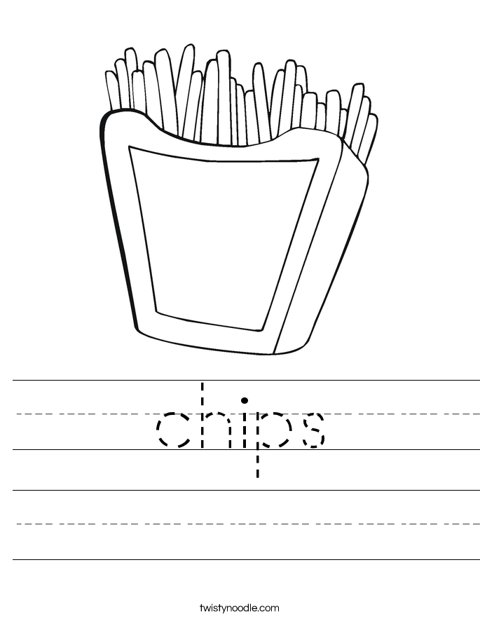 chips Worksheet