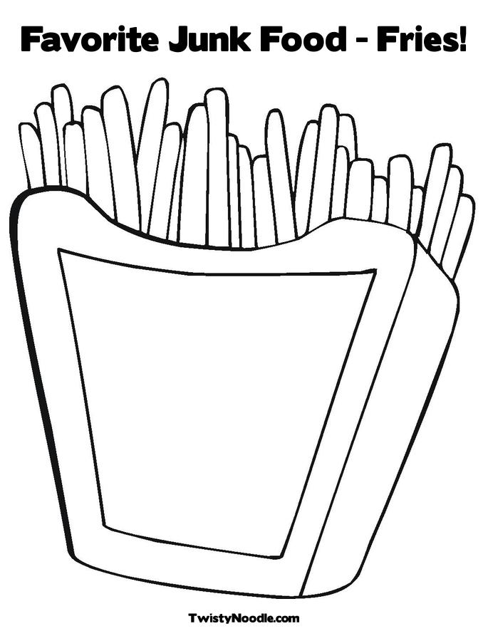 printable coloring pages food - photo#33