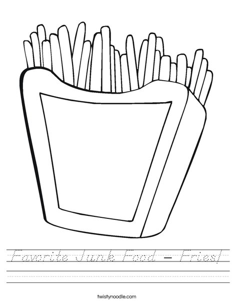 French Fries Worksheet