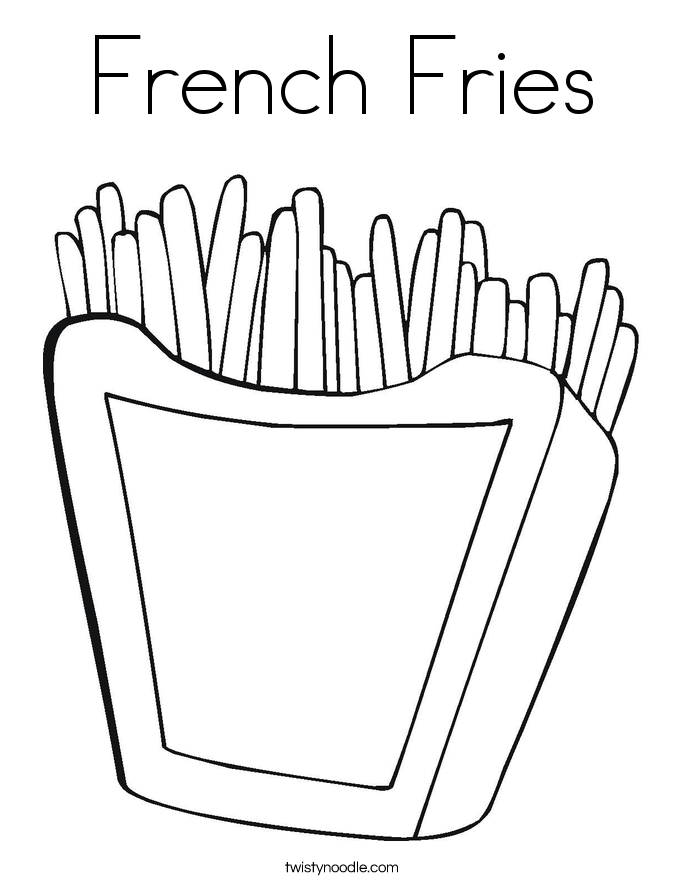 French Fries Coloring Page