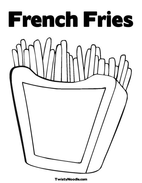 french fries coloring pages - photo#6