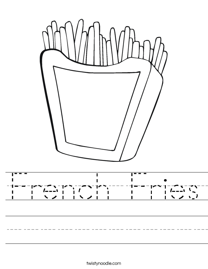 french fries coloring pages - photo#13