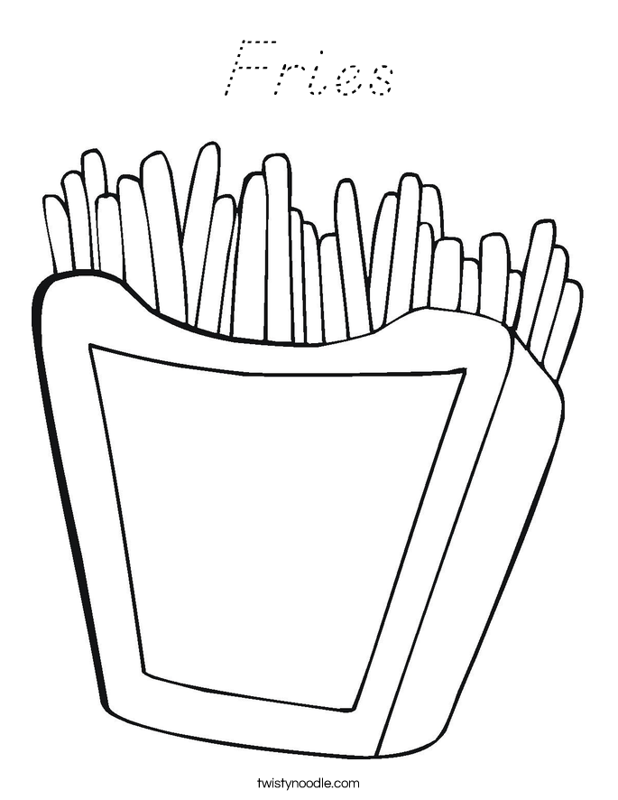 Fries Coloring Page