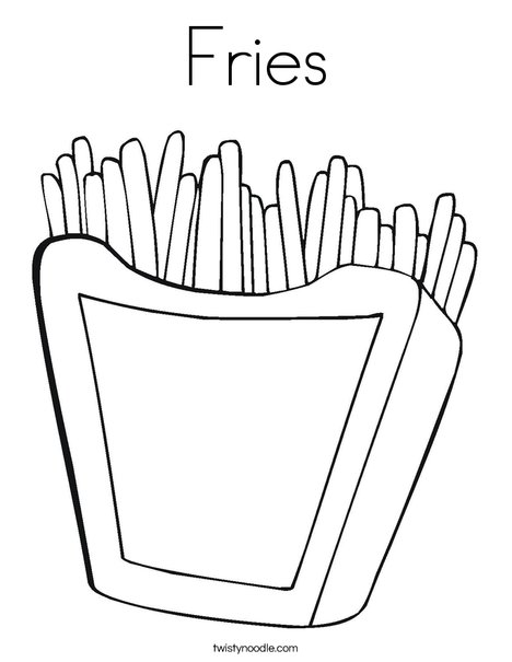 Fries Coloring Page - Twisty Noodle