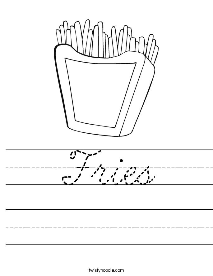 Fries Worksheet