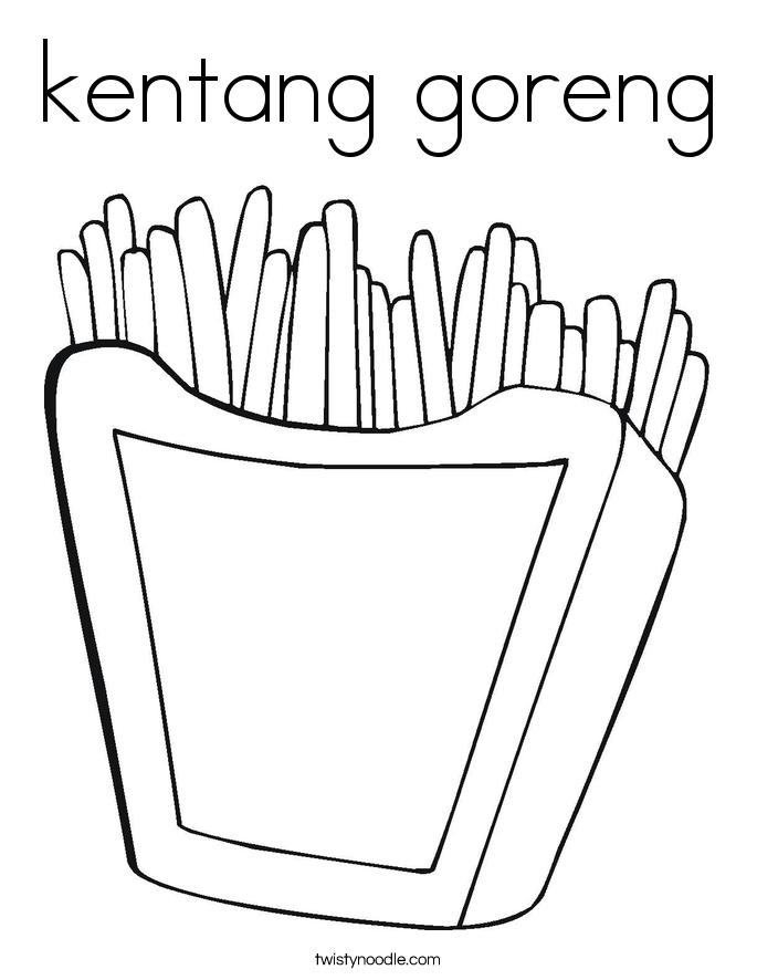 kentang goreng Coloring Page