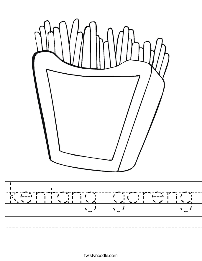 kentang goreng Worksheet