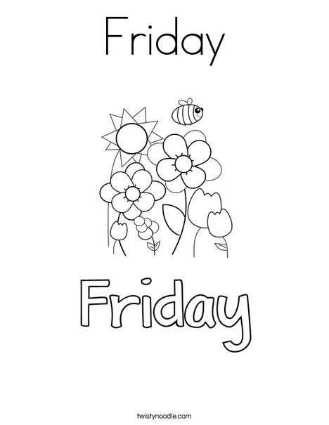 Friday Coloring Page