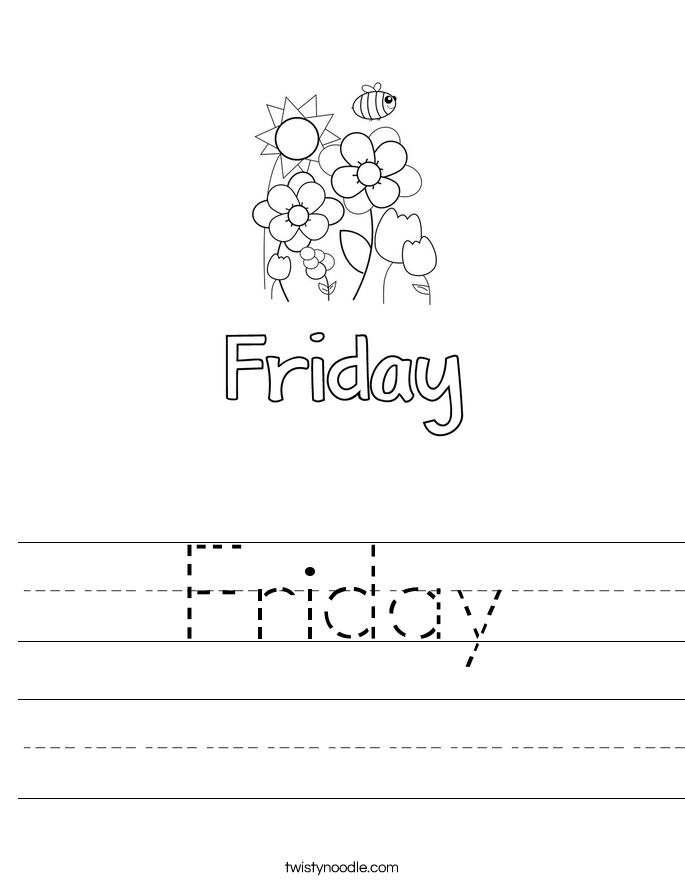 Friday Worksheet