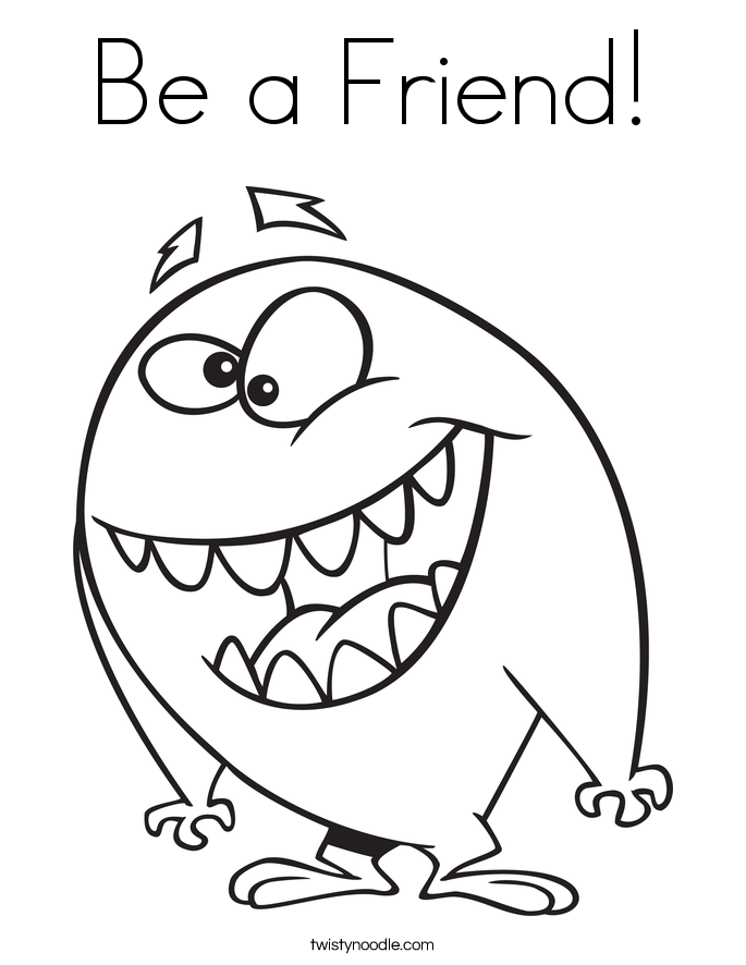 Be a Friend! Coloring Page
