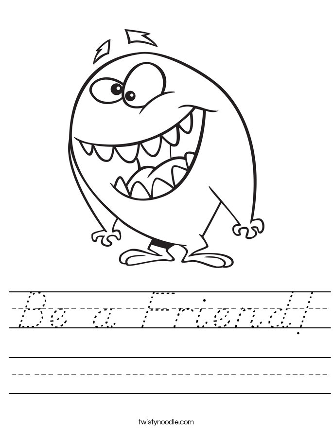 Be a Friend! Worksheet