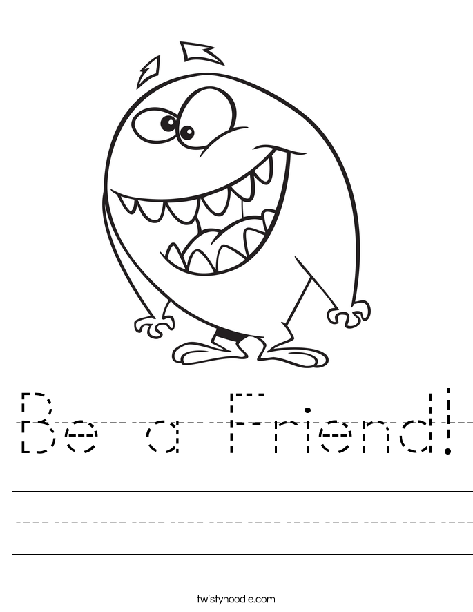 Be a Friend! Worksheet