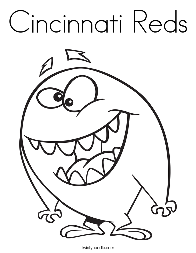 cincinnati reds coloring page twisty noodle Cincinnati Reds Logo Clip Art  Cincinnati Reds Coloring Pages