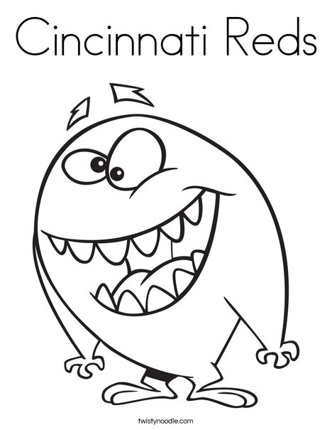 Friendly Monster Coloring Page