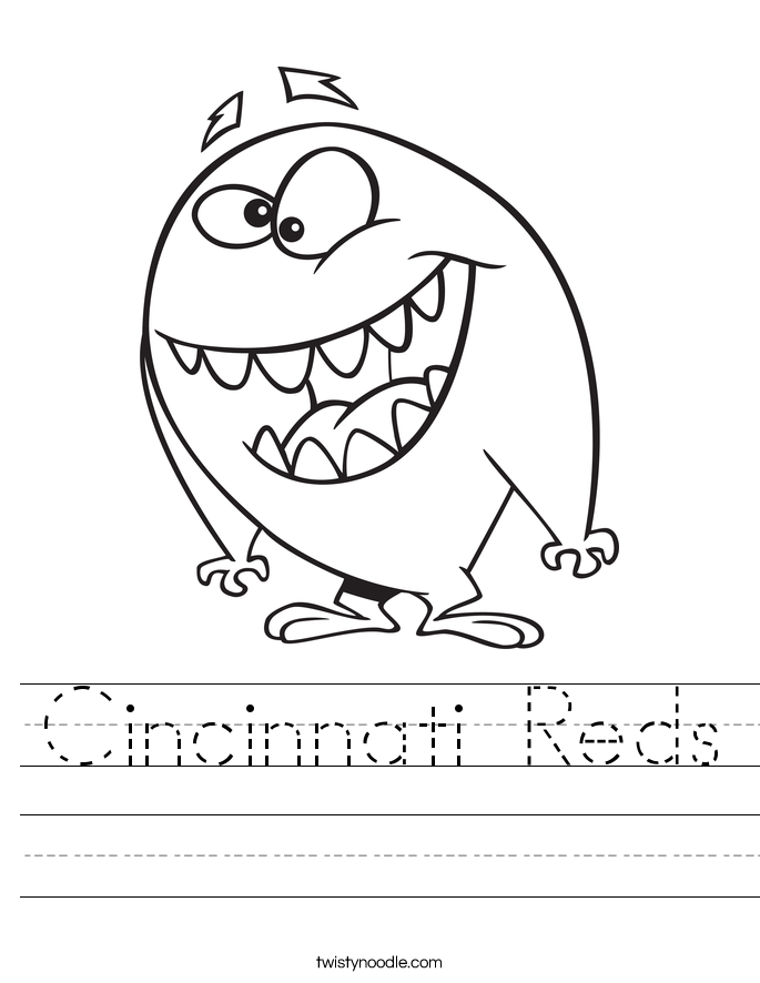Cincinnati Reds Worksheet