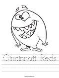 Cincinnati Reds Worksheet