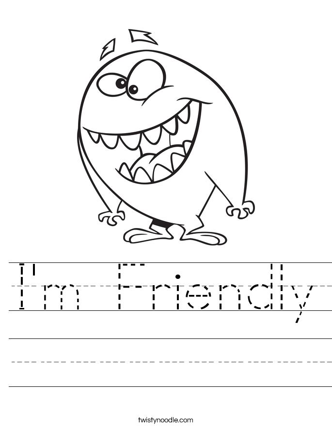 I'm Friendly Worksheet