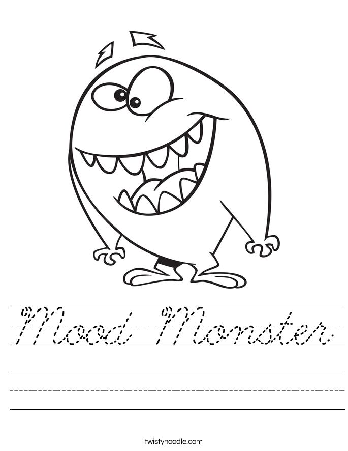 Mood Monster Worksheet