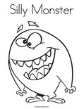 Silly MonsterColoring Page