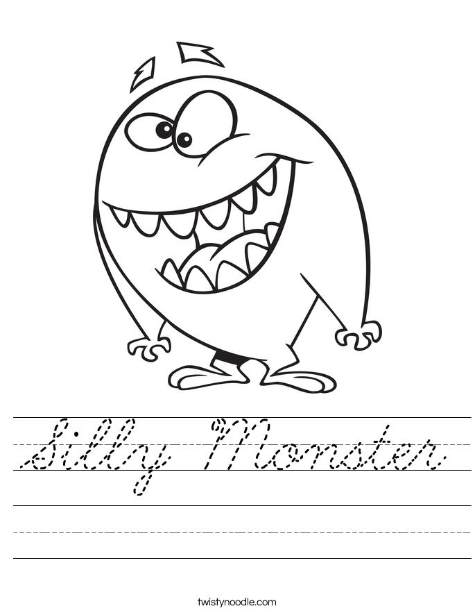 Silly Monster Worksheet
