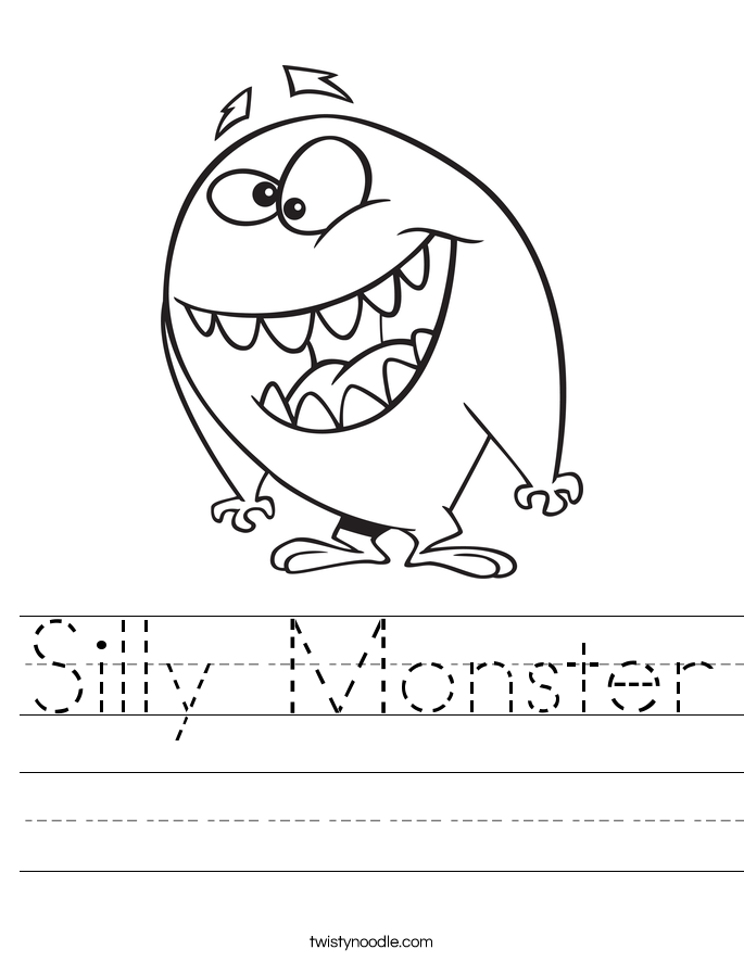 Silly Monster Worksheet