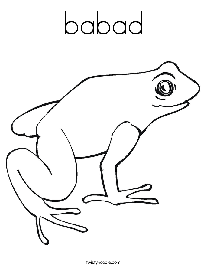 babad Coloring Page