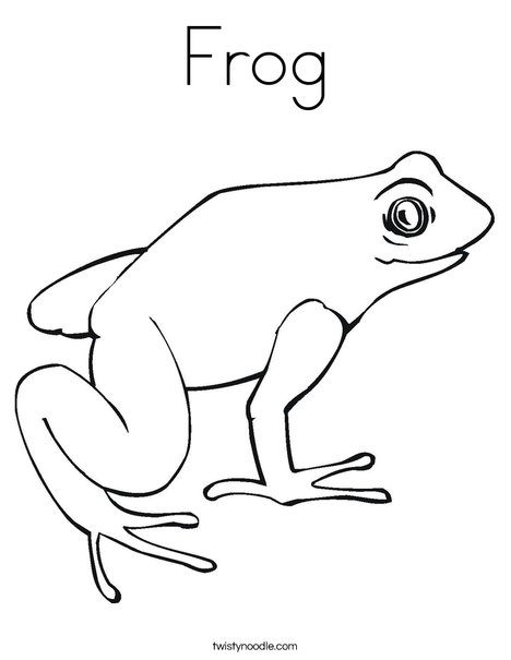 Frog coloring page twisty noodle for Free printable frog coloring pages