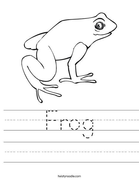 Frog Worksheet - Twisty Noodle