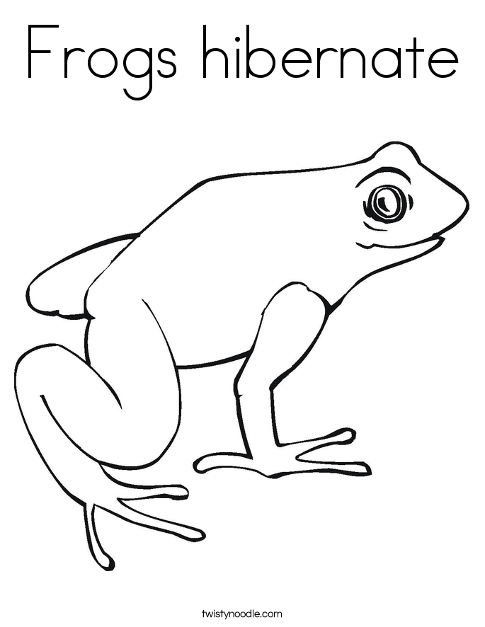 hibernation coloring pages - photo#8