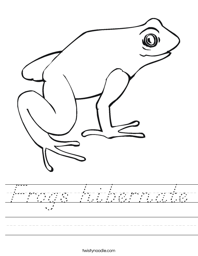 Frogs hibernate Worksheet