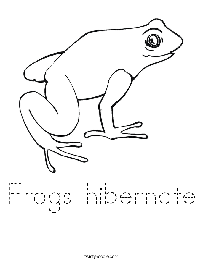 Animals That Hibernate Worksheet Frogs hibernate worksheet.